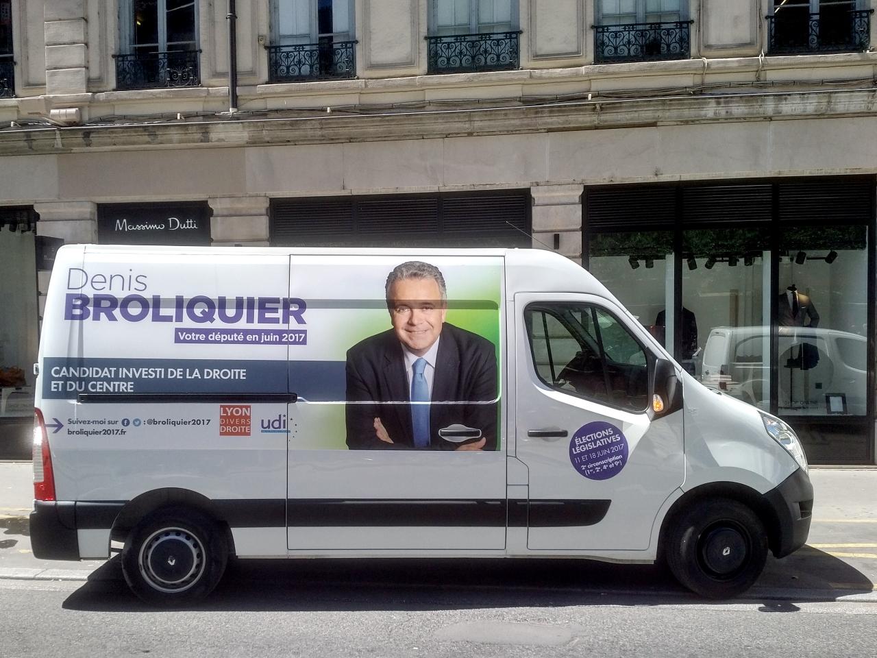 Le camion de campagne de Denis Broliquier