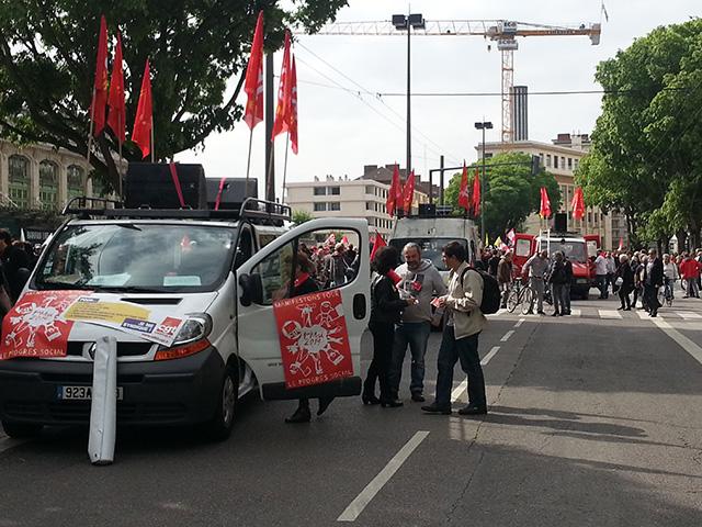 1er mai : entre 2700 et 4000 personnes défilent dans les rues de Lyon