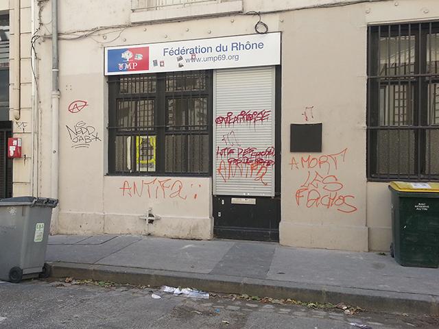 Lyon : la fédération UMP du Rhône taguée cette nuit