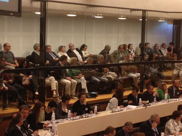 Dans le public, un vrai public et assez peu de proches des élus - LyonMag