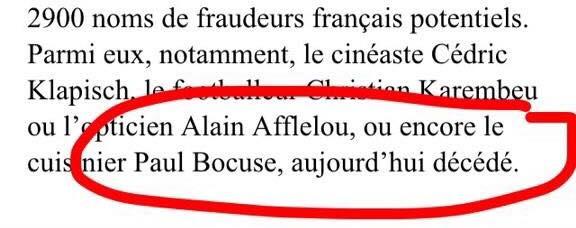 """Bourde : quand la presse suisse considère Paul Bocuse comme """"décédé"""""""