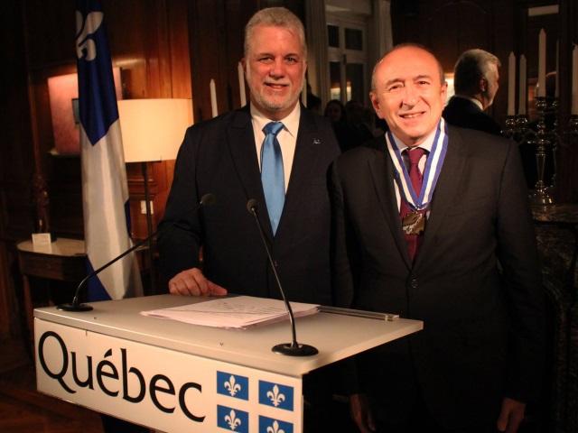 Gérard Collomb reçoit la plus haute distinction du Québec