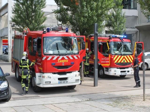Lyon : un escalier s'effondre, un blessé