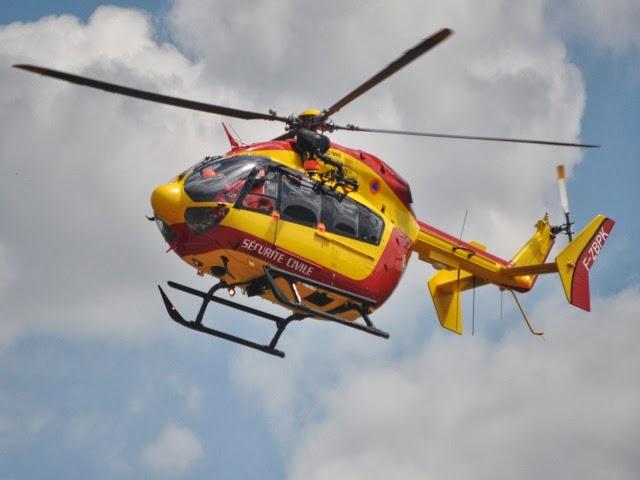 Rhône : un motard héliporté après un grave accident