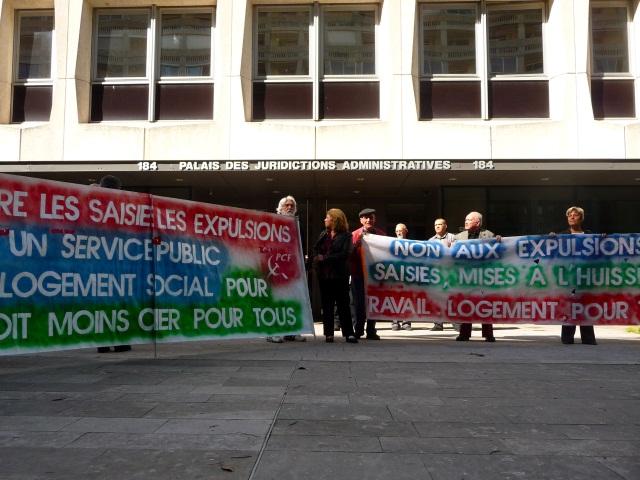 Fin de la trêve hivernale : le collectif d'extrême-gauche Amphi Z manifeste contre les expulsions