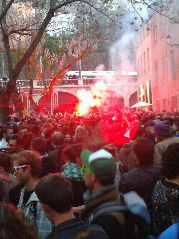 Lyon : les Nuits Sonores pilonnent la place Gerson
