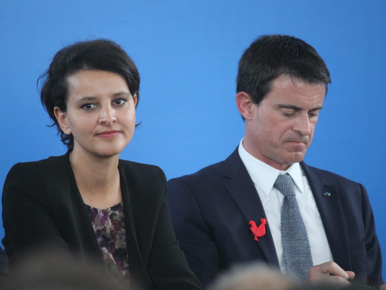 Primaire à gauche: Najat Vallaud-Belkacem soutient Manuel Valls