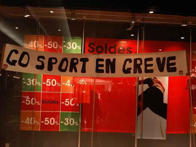 Nouveau rassemblement des salariés du magasin Go Sport de la Part-Dieu