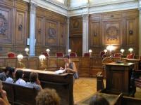 Le box des prévenus était vide mardi devant le tribunal correctionnel de Lyon