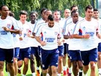 Le groupe de l'OL face à Sochaux