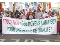 Les enseignants se mobilisent mardi soir devant la préfecture