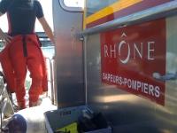 Un homme dans un état grave après une chute dans le Rhône