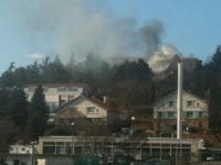 Une maison individuelle en feu dans le 9e arrondissement de Lyon