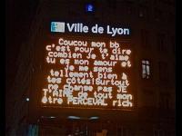 Vos messages de St Valentin sur des panneaux géants à Lyon