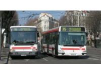 Les bus TCL aux couleurs de l'Allemagne et de la France