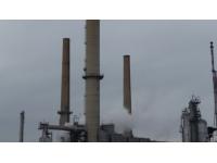 La nouvelle torchère installée à la raffinerie de Feyzin
