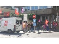 Hôpital Henry Gabrielle : une vingtaine de manifestants mardi matin devant l'ARS Rhône-Alpes