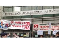 Nouvelle manifestation des enseignants à Lyon