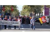Une manifestation des retraités jeudi après-midi à Lyon