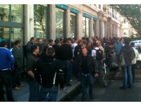 Nouvelle manifestation des policers devant la préfecture