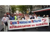 Manifestation des retraités mardi devant le Medef