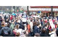 Les salariés du social étaient mobilisés lundi dans les rues de Lyon