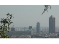 Beau temps et pollution à Lyon