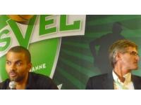 Tony Parker à Lyon pour la présentation du nouveau maillot de l'Asvel
