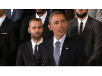 Tony Parker reçu par le président américain Barack Obama
