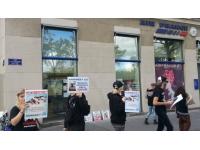 Lyon : manifestation contre la vivisection devant Air France