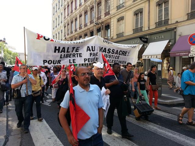 3000 manifestants réunis ce samedi pour la Palestine à Lyon