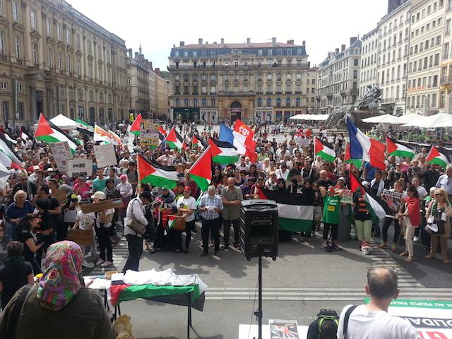Environ 350 manifestants pour soutenir la Palestine à Lyon