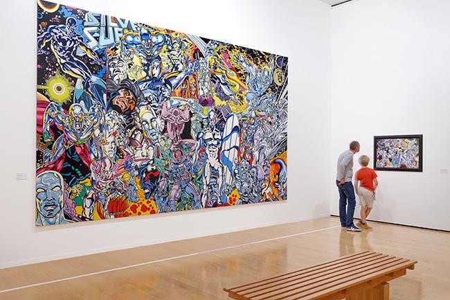 R trospective err pr s de 85 000 visiteurs recens s au for Art contemporain artistes