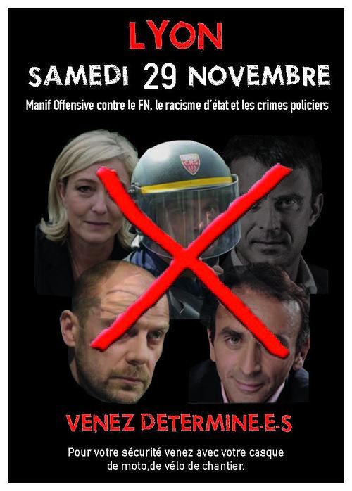 """Congrès du FN à Lyon : une manifestation """"offensive"""" en préparation"""