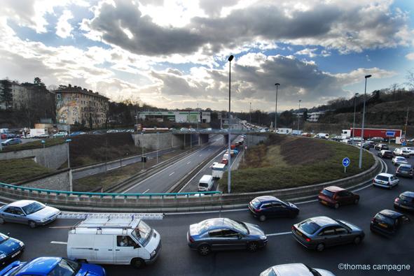 Lyon bloquée par les taxis