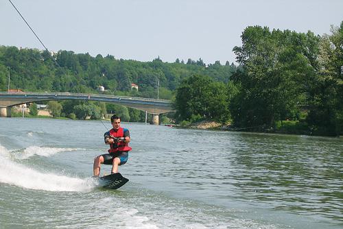 Du ski nautique d'un nouveau genre sur la Saône