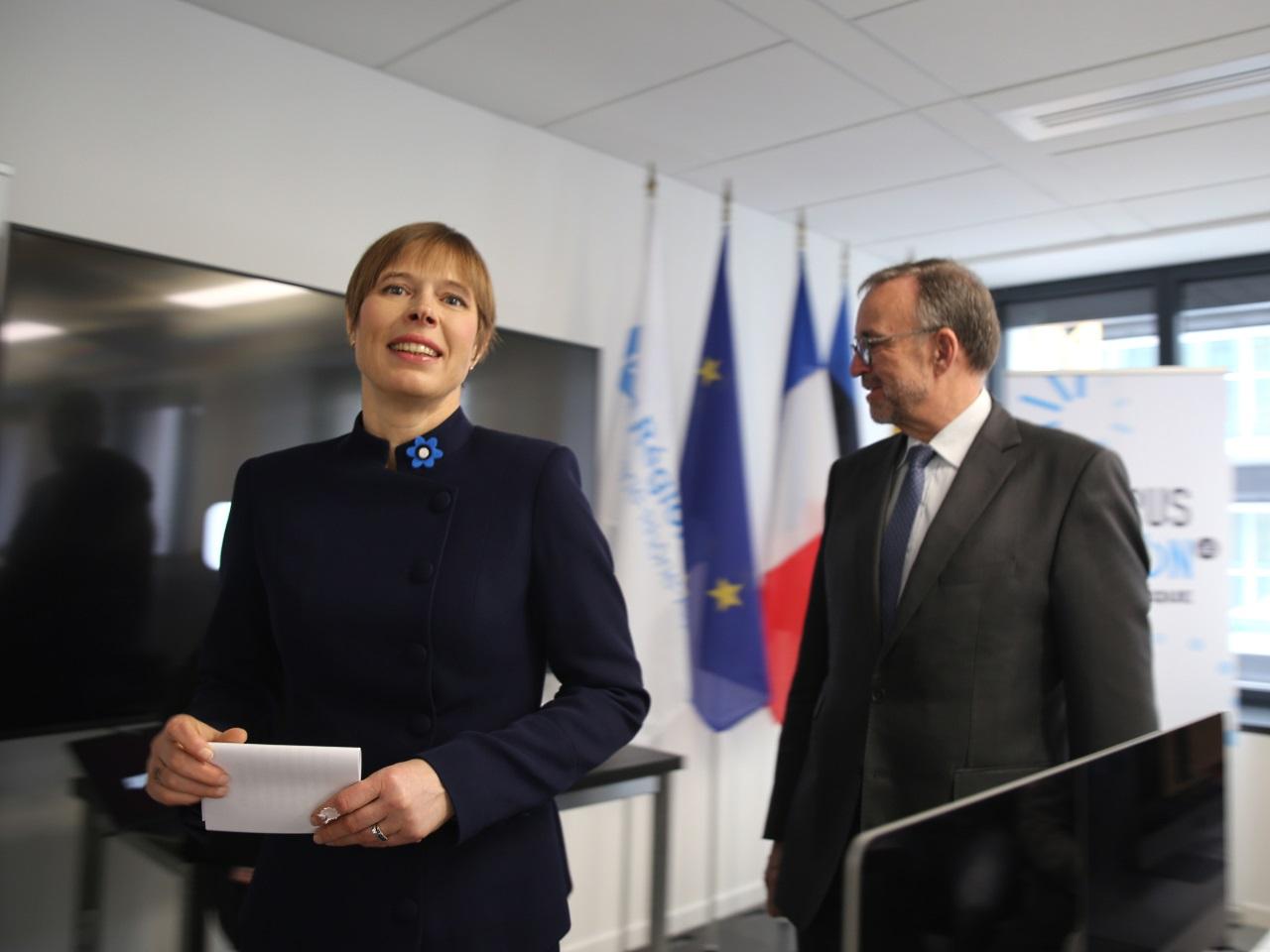 Kersti Kaljulaid, Présidente d'Estonie, avec Etienne Blanc - LyonMag