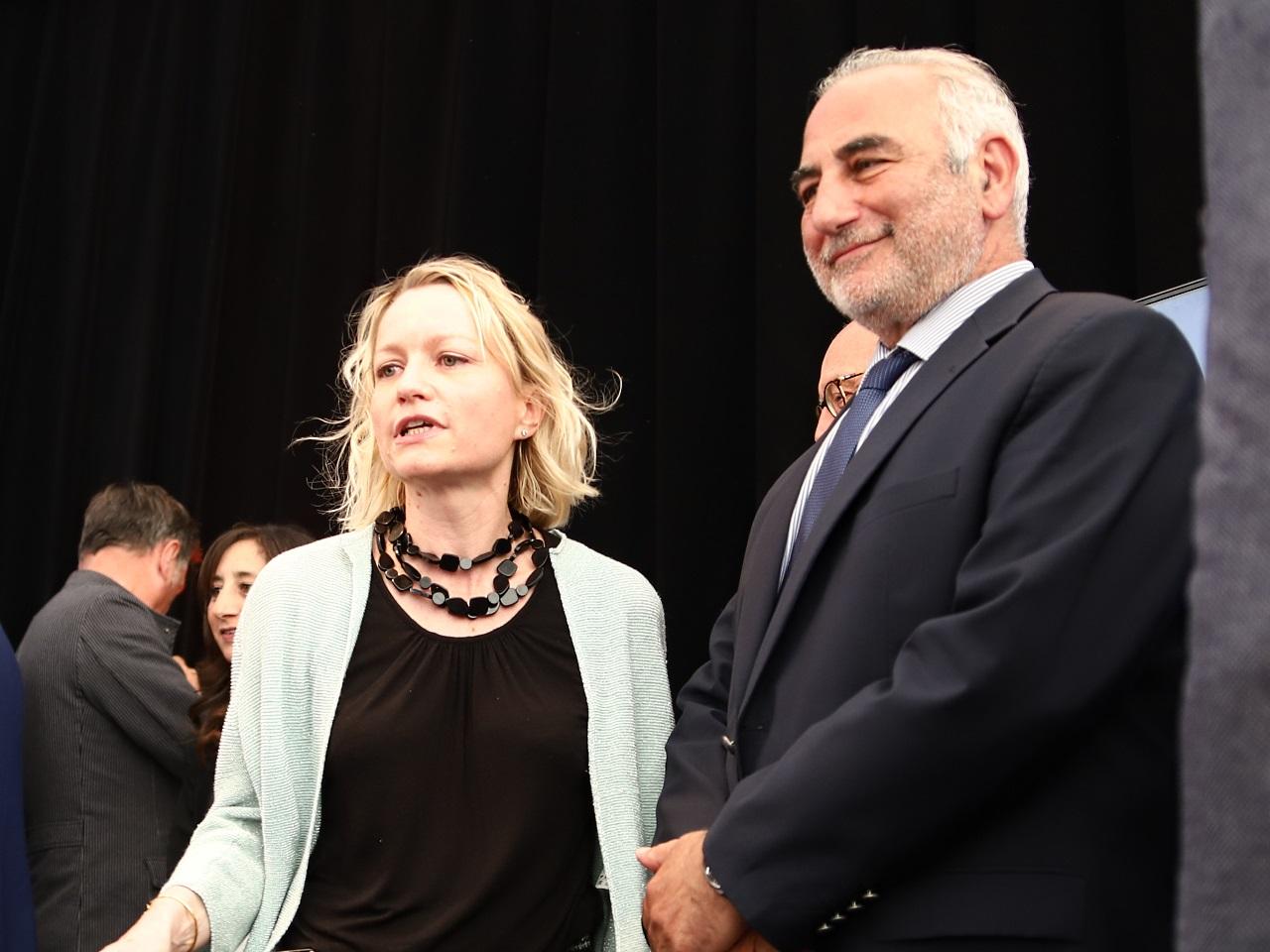 Caroline Collomb était présente aux côtés de Georges Képénékian et David Kimelfeld - LyonMag