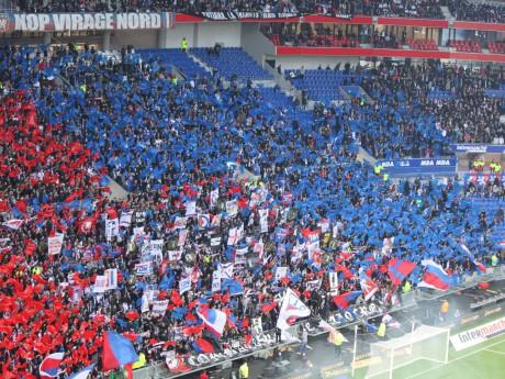 Les supporters de Lyon au Parc OL - LyonMag.com