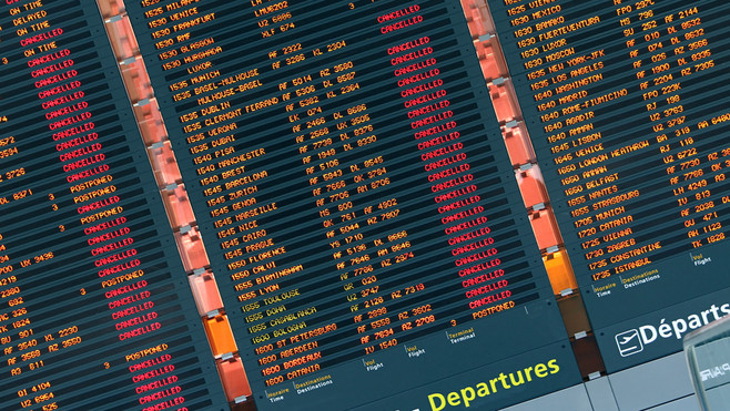 Une trentaine de vols supprimés dimanche à l'aéroport de Lyon Saint-Exupéry