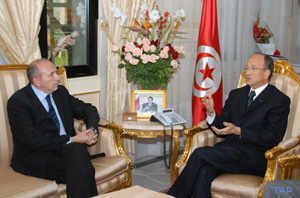 Collomb rencontre le président du Sénat tunisien
