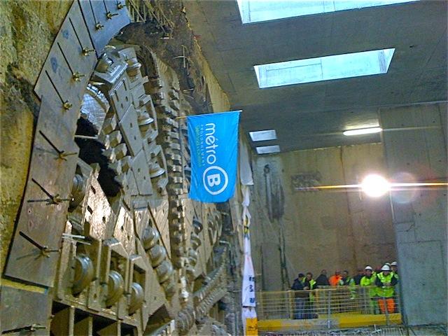 Ca y est, le tunnelier Gerland-Oullins est sorti de terre !