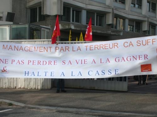 Nouvelle manifestation des salariés de France Télécom jeudi à Lyon
