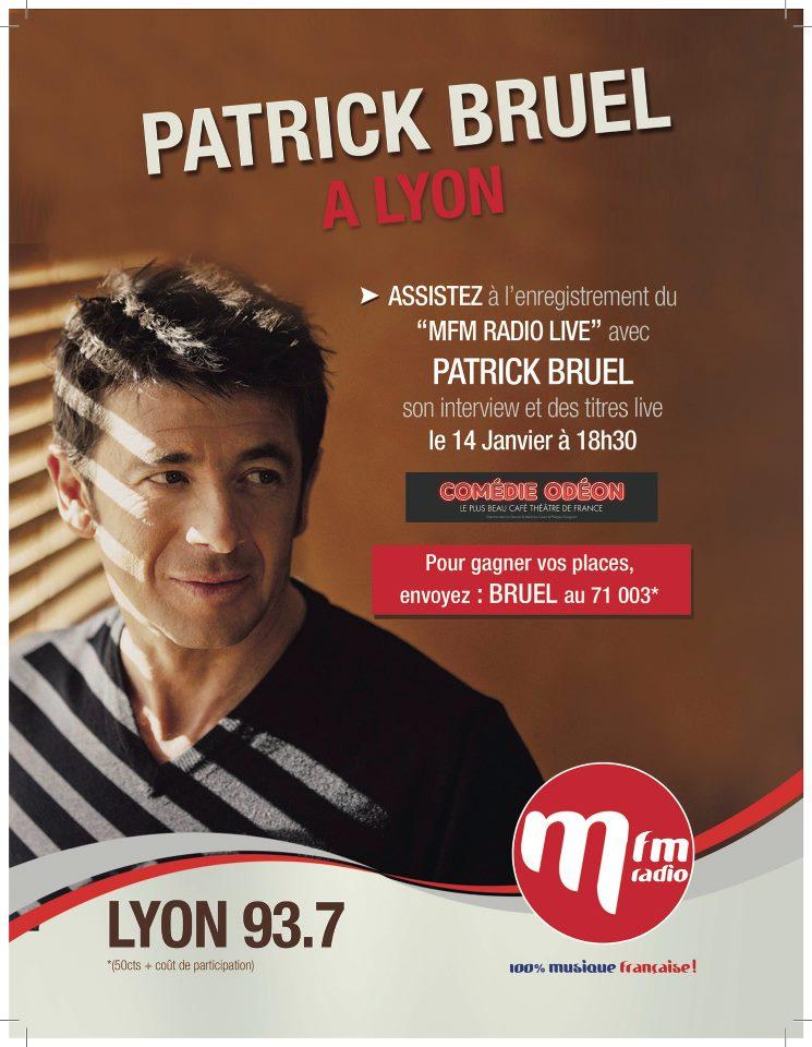 Gagnez vos places pour le concert privé de Patrick Bruel au Comédie Odéon à Lyon le 14 janvier !