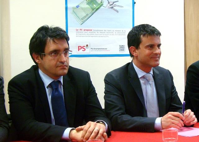 Cantonales : Manuel Valls sur les terres de Michel Mercier