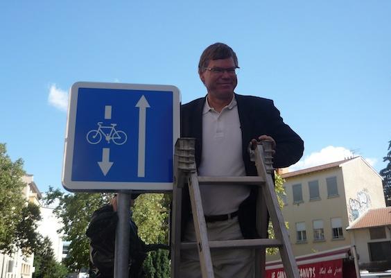 Les vélos vont pouvoir rouler à contresens à Lyon