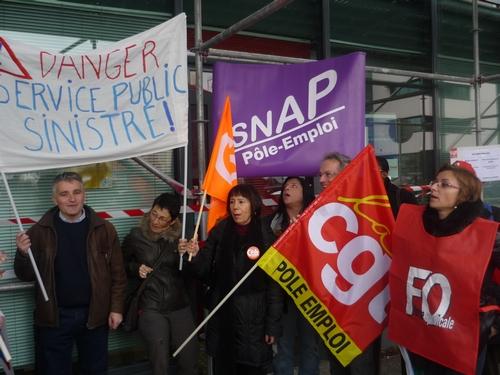 Les agents de Pôle emploi en grève