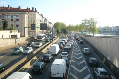 Lyon, 5e ville la plus embouteillée de France, 13e au niveau européen