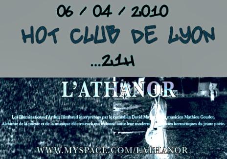 L'«Athanor» revisite Rimbaud au Hot Club Jazz de Lyon