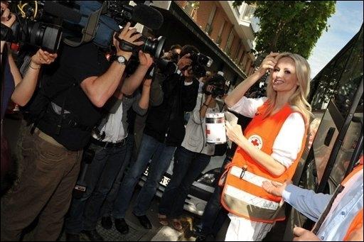 Adriana Karembeu à Lyon pour la Croix-Rouge